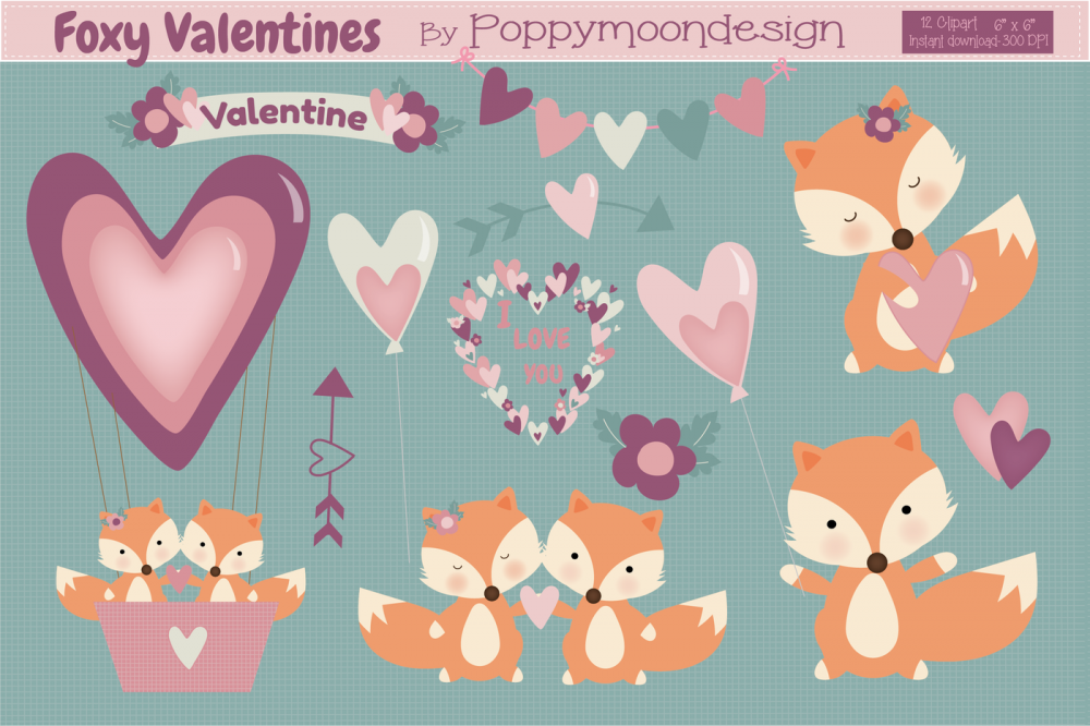 "Graphes ""Valentines Day Set"""
